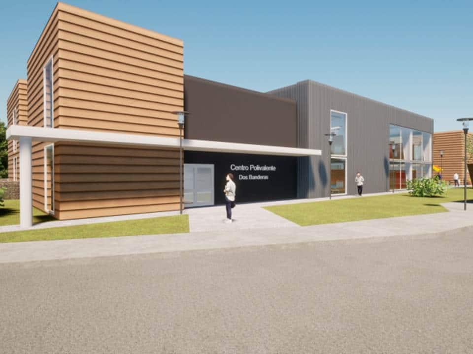 El Gobierno anunció la construcción de un espacio multiuso en el barrio Dos Banderas