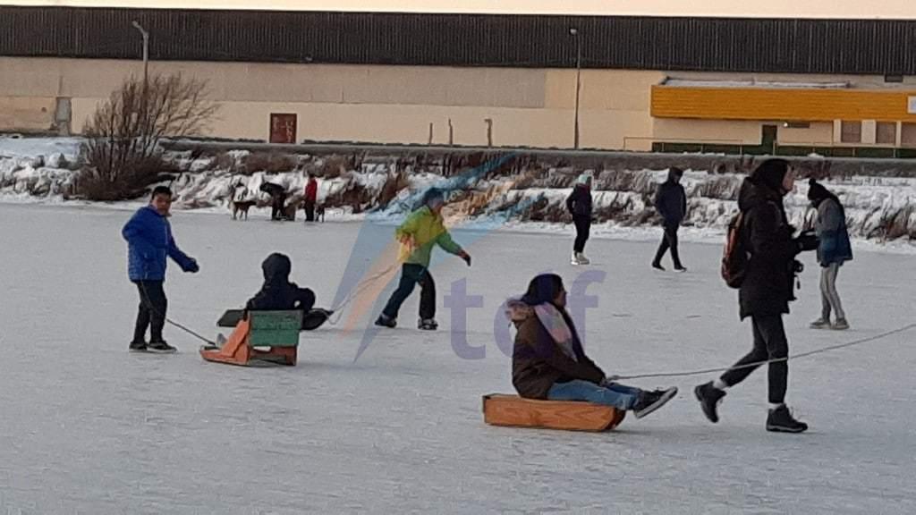 Municipio acompañó actividades invernales en la Laguna de los Patos