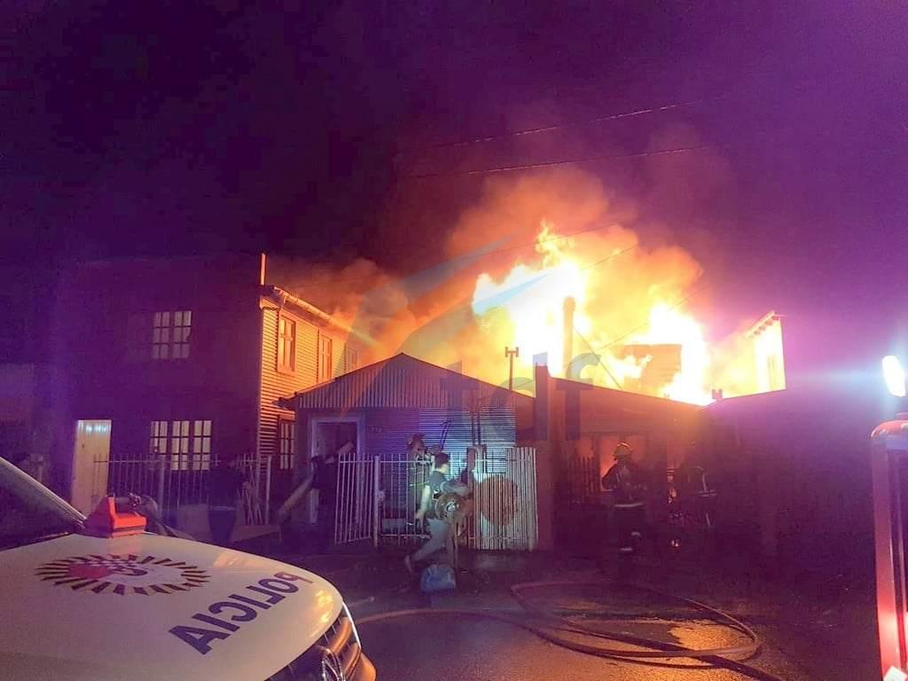 Son 9 las familias damnificadas por el incendio que conmovió a Río Grande