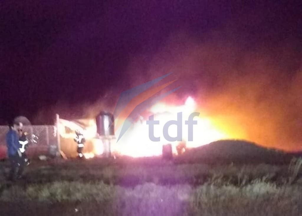 Incendio en una estancia cercana a Río Grande destruyó una casa