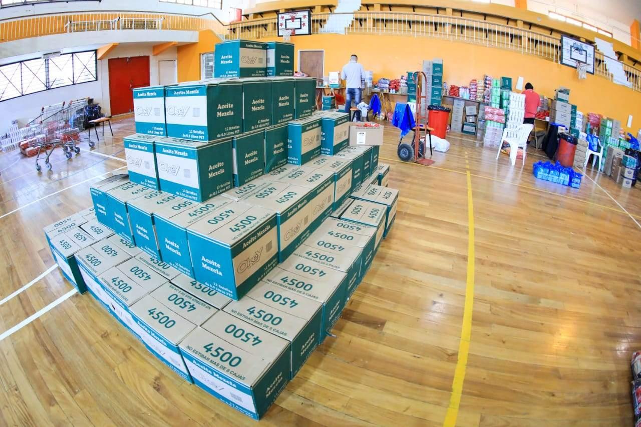 El Municipio y PAMI entregaron módulos alimentarios a Adultos Mayores en Río Grande