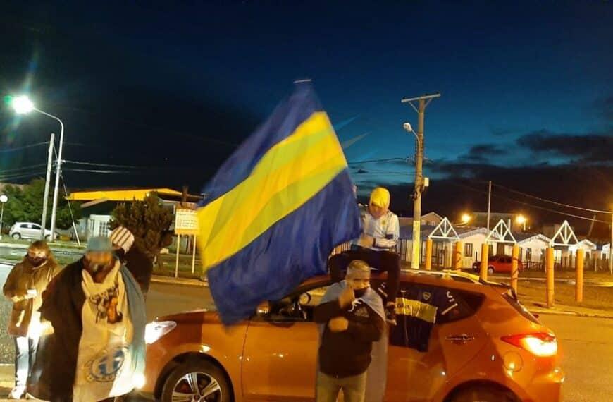 Hubo banderazo por Diego Maradona en Río Grande