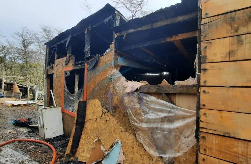 Se incendió una casilla en Tolhuin