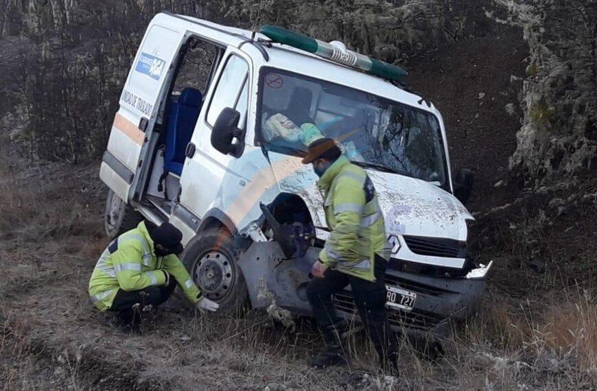 Equipo médico municipal sufrió violento accidente en ruta 3