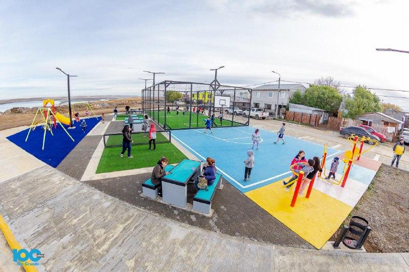 Inauguraron el playón de pasaje Luján en la zona del Perón