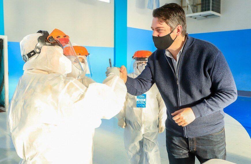 El Intendente visitó a los trabajadores sanitarios y a los promotores territoriales
