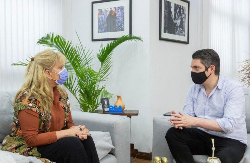 El Intendente recibió a Myriam Martínez y analizaron la coyuntura actual
