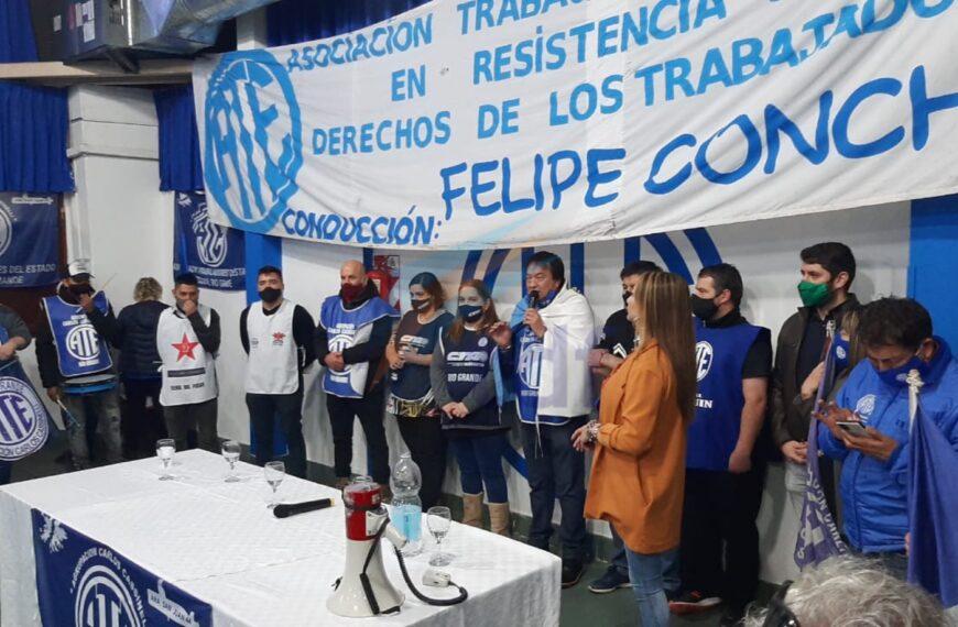 """""""Me da vergüenza que haya ganado este Stefani que no lo conoce nadie"""" dijo Felipe Concha en convocatoria de ATE al Frente de Todos"""